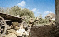 Soviet soldiers - Village fighting WW2 | Colorized using pho… | Flickr
