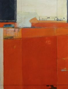 Karen Jacobs. Divide canvas into sections, use shades, drawing or mixed media in a few of them but painted around