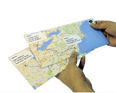 So fun! if you want creative envelopes, go to Maps, map the route from your letter to the other person's mailbox. Print them up, fold them into 8 by 11 envelopes. **would be great for 'envelope' gifts for a trip! Do It Yourself Inspiration, Diy Inspiration, Envelope Carta, Fold Envelope, Diy Projects To Try, Craft Projects, Crafty Craft, Crafting, Fun Crafts