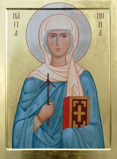 A handpainted icons of Saint Nina, Equal-to-Apostles, the Enlightener of Georgia.    Learn more: https://catalog.obitel-minsk.com/imp-03-01-st-nina-8130.html     #CatalogOfGoodDeeds #OrthodoxBlog #Orthodoxy