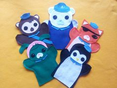Octonauts felt puppets - Whaat? These are amazing.