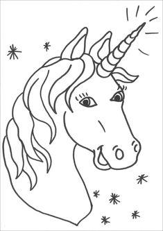 7 Best Ausmalbilder Einhorn Images Unicorn Coloring Pages