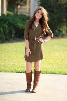 Dream Come True Tunic Dress - Olive