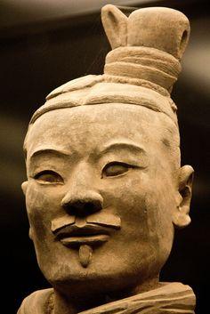 One of Shi Huangdi's terra cotta warriors.