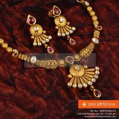 Explore the trendy collection of gold necklace set at Waman Hari Pethe Sons. Gold Chain Design, Gold Jewellery Design, Gold Jewelry Simple, Fashion Jewellery Online, Jewelry Patterns, Necklace Designs, Indian Jewelry, Bridal Jewelry, Gold Necklaces