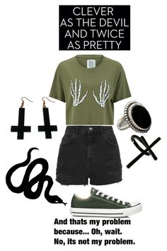 """""""Problems...Oh wait no.."""" by cliffkitty ❤ liked on Polyvore featuring Zoe Karssen, Topshop, Converse, NOVICA, Emi Jewellery, Prada and Chicnova Fashion"""
