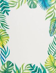 Bright leaves give this paper a tropical feel! Perfect for summer invitations, scrapbooking, and paper crafting. Personalize with your favorite stamp! Pack of 20 sheets.<br><br>Size - x 11 Tropical Art, Tropical Vibes, Tropical Leaves, Thank U Cards, Seal Craft, Deco Floral, Digital Scrapbook Paper, Chalkboard Art, Of Wallpaper