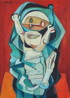 ~~ Ang Kiukok - Mother and Child Filipino Art, Philippine Art, Madonna And Child, Lady Madonna, Children Images, Sacred Art, Mothers Love, Mother And Child, New Artists