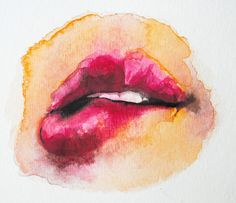 Watercolor Sunday mouth by Colleen Wynn, via Flickr