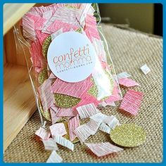 Pink Blush and Gold Glitter Confetti. 2 Packs (50ct each). - Blush weddings (*Amazon Partner-Link)