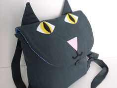 Smokey Gray Kids Cat Backpack