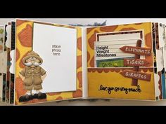 Baby's first-year Safari-themed mini album using Nitwit Collections!