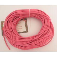 Cordón cuero rosa 3 mm.