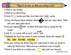 I'm Done Checklist for When Kids Think They Are Done with Writing $2.50