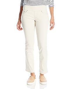 Jag Jeans Women's Peri Pull on Straight Leg Pant in Bay T...
