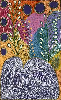 Ruby Tjangawa Williamson - 'Ngayuku Ngura' - Outstation Gallery - Aboriginal Art from Art Centres Aboriginal Dot Art, Aboriginal History, Aboriginal Painting, Aboriginal Artists, Dot Painting, Indigenous Australian Art, Indigenous Art, Arte Popular, Kunst Der Aborigines