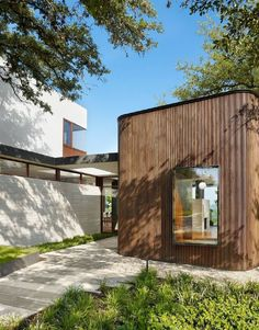 A modern house in Austin, Texas We like rounded corners