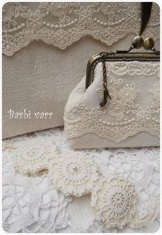 Romantic lace bag and purse