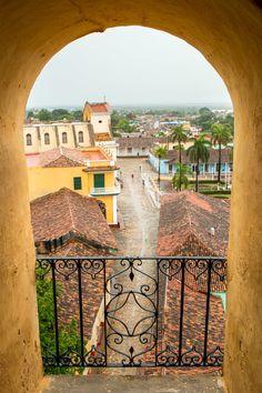 San Francisco de Asis, Trinidad, Cuba - Plaza Mayor and the...