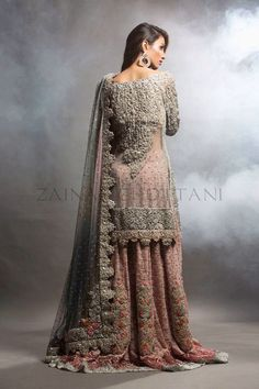 Zainab Chottani is a Pakistani fashion designer who is famous for bridal wear and has displayed her creations in Pakistan as well as London, USA and Dubai. She has introduced the brands AQUA and Mera Pakistan. Pakistani Bridal Dresses, Bridal Lehenga, Indian Dresses, Nikkah Dress, Floral Lehenga, Indian Suits, Pakistani Outfits, Bridal Gown, Bridal Dresses 2018