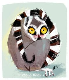 Coy Little Lemur by Steph-Laberis