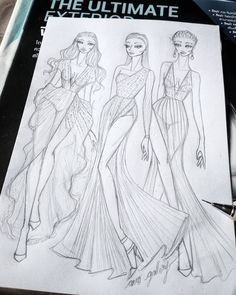 ✔ Dress Designs Sketches Red Carpets Source by dress sketches Fashion Design Portfolio, Fashion Design Drawings, Fashion Sketches, Dress Design Sketches, Dress Designs, Fashion Drawing Tutorial, Bff Drawings, Fashion Illustration Dresses, Fashion Figures