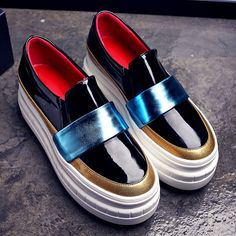 Women Creepers Genuine Leather Platform Shoes Woman 2016 brand Women Famous Designer Creeper Shoes Quality Ladies Loafers