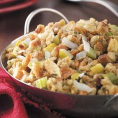 Stuffing Recipes from Taste of Home, including Apple Stuffing Recipe