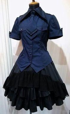 I want to go to a school with this uniform Harajuku Fashion, Lolita Fashion, Gothic Fashion, Edgy Outfits, Pretty Outfits, Cool Outfits, Cute Fashion, Girl Fashion, Fashion Dresses