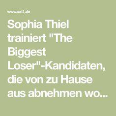 """Sophia Thiel trainiert """"The Biggest Loser""""-Kandidaten, die von zu Hause aus abnehmen wollen. Dabei gibt sie gute Tricks und hervorragende Trainingsanleitungen!"""
