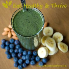 Blueberry Spinach Smoothie | Eat Healthy & Thrive