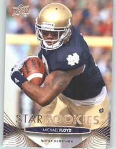 2012  Upper Deck Football Card # 118 Michael Floyd SR RC - Notre Dame Fighting Irish (Arizona Cardinals (Star Rookies / RC Rookie Card)(ENCASED NFL Trading Card) by Upper Deck Football. $5.77. 2012  Upper Deck Football Card # 118 Michael Floyd SR RC - Notre Dame Fighting Irish (Arizona Cardinals (Star Rookies / RC Rookie Card)(ENCASED NFL Trading Card)