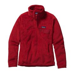 Patagonia Women\'s Re-Tool Snap-T\u00AE Fleece Pullover - French Red - Classic Red X-Dye FRCX