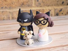Batman and Catwoman wedding cake topper by GenefyPlayground  https://www.facebook.com/genefyplayground