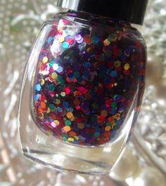 Hay Girl Nail Polish in Color Wheel - Shiny Metallic Rainbow Glitter Mix
