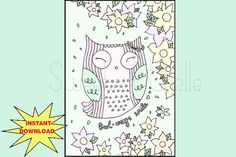 Cute Printable A5 Page Owl-ways Smile Dashboard by SweetestChelle