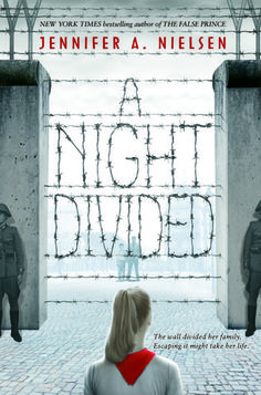 A Night Divided by Jennifer A. Nielsen, 317 pp, RL 4. A unique, chilling work of historical fiction that begins with the night that the wall went up between East and West Berlin. Gerta, her older brother and mother are separated from her father and brother who were in West Berlin looking for work the night the wall went up. Four years later, cryptic messages from her father across the divide just might give Gerta the clues she needs to escape - if she is brave enough and strong enough.
