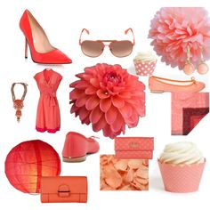 Versatile Vibrant + Pastel Coral Bridal Ideas | Wedding and Event Inspiration by Koyal Wholesale, created by koyalwholesale.polyvore.com