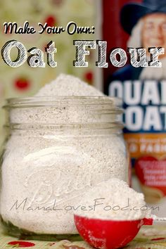 Make Your Own Oat Flour by MommyNamedApril, via Flickr