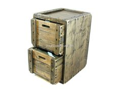 Rustic filing cabinet solid wooden printer stand office furniture file cabinet with 2 drawers. 26.5Hx16.5Wx19D: Crates:18Lx14.25Wx11.25H