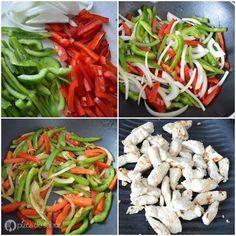 Cómo hacer fajitas de pollo www.pizcadesabor.com Healthy Breakfast Recipes, Clean Eating Recipes, Healthy Cooking, Healthy Snacks, Healthy Recipes, Steak Dinner Recipes, Easy Dinner Recipes, Meat Recipes, Meat Meals