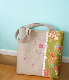 cherry blossom tote | Flickr - Photo Sharing!