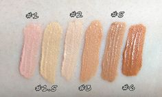 Again, YSL TOUCHE ECLAT highlight swatches...