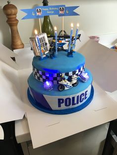 Deybel's birthday - Cathie Mullis Pages Police Birthday Cakes, Lego City Birthday, 1st Birthday Foods, Police Cakes, Birthday Cake Kids Boys, Funny Birthday Cakes, Harry Birthday, Monkey Birthday Parties, Birthday Themes For Boys