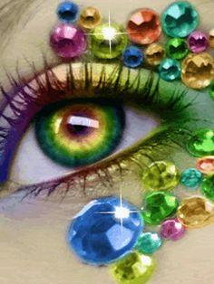 Eye Art... Glamour Eye Photo... GlamourEye1. GIF... By Artist Unknown...