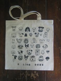 I LIKE DOGS Tote Bag