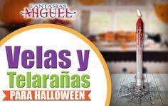 Velas Y Telarañas Para Halloween / Día de Muertos