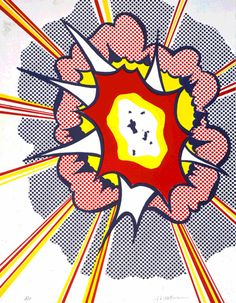 Explosion by Roy Lichtenstein (1965-1966)