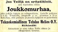 Old Advertisements, Advertising, Vintage Ads, Vintage Posters, Blog Categories, Old Ads, Illustrations And Posters, Old Photos, Finland