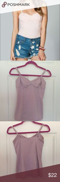 Lavender Bustier Camisole Sexy and gorgeous lavender bustier camisole. Only worn once, in pristine condition. Model pic for fitting reference. Full Tilt Tops Camisoles
